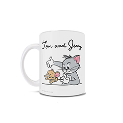 Your favorite cat and mouse duo are back and more mischievous than ever on this 11 oz ceramic coffee mug! Featuring Jerry trying to escape Tom's grasp, this mug's sketch-like illustration is perfect for funs of the iconic frenemies!