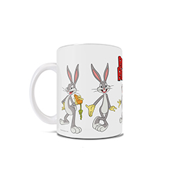 "What's up doc?"" Bugs Bunny is wide-eyed and bushy-tailed on this 11 oz ceramic coffee mug! Featuring your favorite Looney Tunes character, this mug has the many faces and poses of Bugs Bunny."
