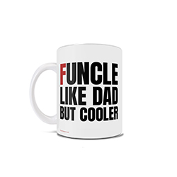 You aren't just an uncle, you are a funcle. This 11 oz ceramic mug is perfect for the fun uncles who love their nieces and nephews like their own.