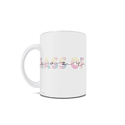 "This 11 oz ceramic coffee mug is perfect for anyone celebrating a graduation in 2021 as it contains the phrase ""Class of 2021"" with a mix of pastel colors and beautiful handwritten script."