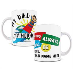 This officially licensed DC Comics Dad mug featuring Superman is a perfect personalized gift for kids of any age.