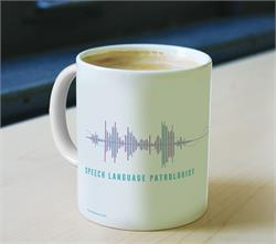 This exclusive design features a sound wave for a Speech Pathologist. Perfect for your office or as a gift for your favorite speech pathologist!