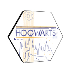 "Young wizards come from near in far to attend Hogwarts School of Witchcraft and Wizardry! This 11.5"" x 10"" wooden wall décor features a minimalistic design of the famous school."
