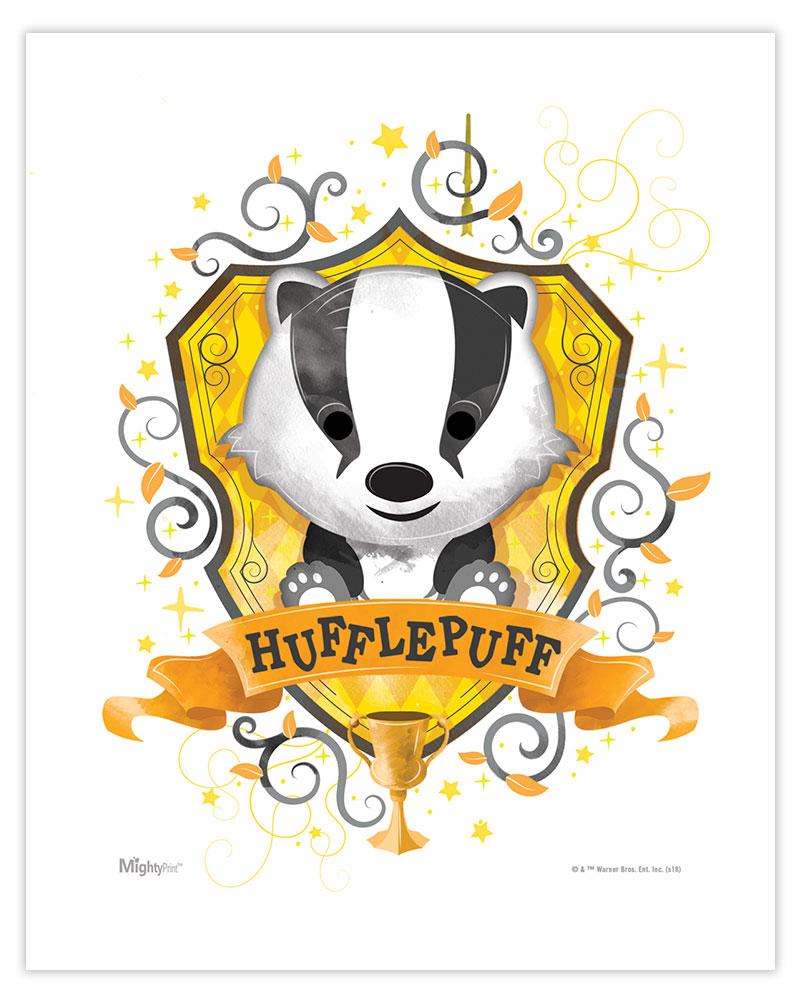 Harry Potter Hufflepuff Watercolor Mightyprint Wall Art