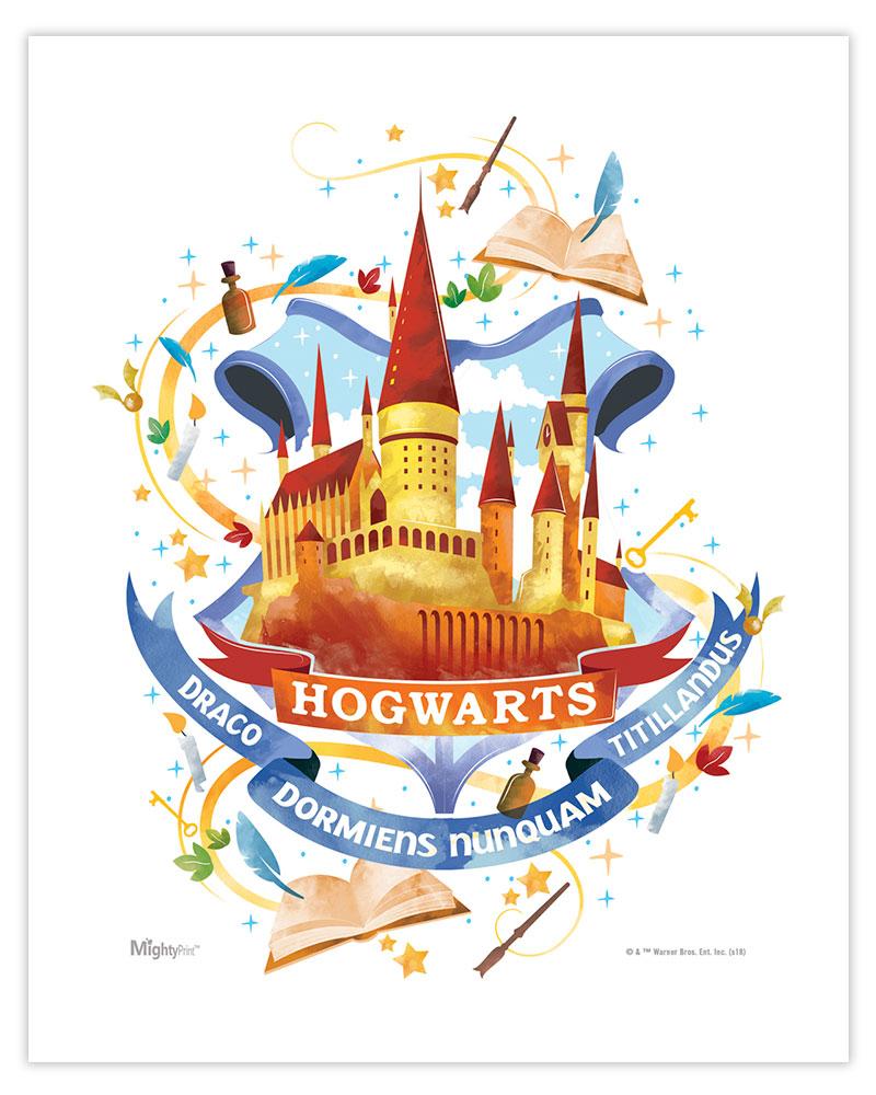 Harry Potter Hogwarts Watercolor Mightyprint Wall Art