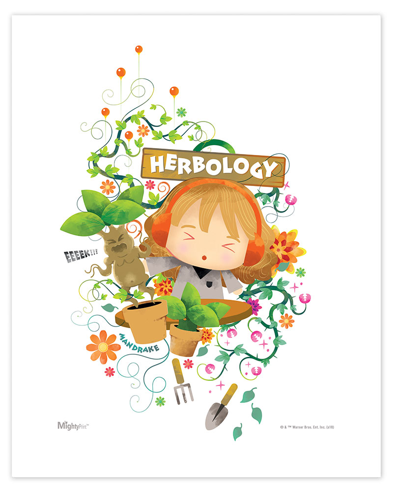 Harry Potter Herbology Watercolor Mightyprint Wall Art Mp08100457