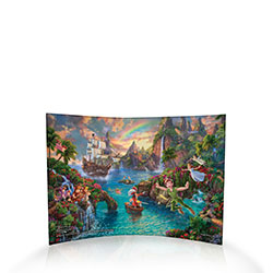 Let Tinkerbell sprinkle you with pixie dust and escape with us to Neverland!  This magical Thomas Kinkade panorama encapsulates Disney's classic animated version of J.M. Barrie's Peter Pan.  All the beloved characters are represented.