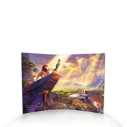 Celebrate The Circle of Life with this iconic moment from Disney's classic animated musical film, The Lion King .  Trend Setters Ltd. is very proud to partner with Thomas Kinkade to bring you this officially licensed design which recreates the moment