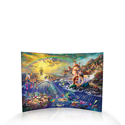 The Little Mermaid becomes Part of Your World with this marvelous curved acrylic print from Trend Setters Ltd.  Featuring Princess Ariel (in mermaid form) and Prince Eric aglow with young love, we know these two will cross oceans to be together!