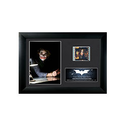 Relive the epic middle entry of Christopher Nolan's Batman Trilogy, The Dark Knight, with this framed collectible MiniCell containing one cell of real 35mm film from the movie and a certificate of authenticity.