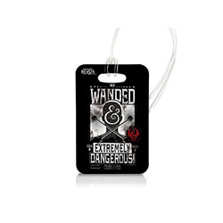 "Take a piece of J.K. Rowling's Wizarding World wherever you go with this Fantastic Beasts and Where to Find Them luggage tag. This collectible uses officially licensed artwork featuring the ""Wanded and Dangerous"" wording and has the flexibility to be used"