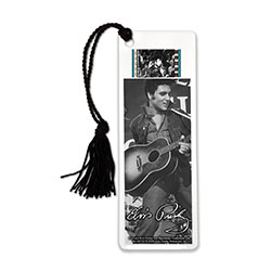 Show your love for the King of Rock n' Roll every time you sit down with a good book (or a bad book we won't judge) with this FilmCells™ bookmark. This collectible bookmark is laminated, features an official image of Elvis, and contains one clip of film.