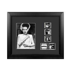 Take a step back into the era of classic horror with this FilmCells presentation. This special edition framed collectible features Elsa Lanchester as the Bride of Frankenstein's Monster, and contains five clips of real 35m film from the movie.