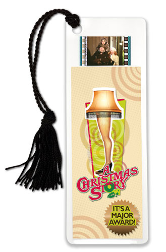 Bring the fun, family, and all American glory of A Christmas Story every time you sit down with a good book (or a bad book, we won't judge) with this FilmCells™ bookmark. This collectible features an image of the infamous Leg Lamp, and contains one clip.
