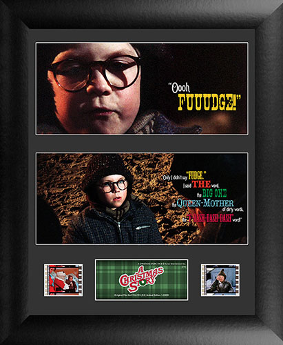 Bring the fun, family, and all American glory of A Christmas Story to your collection with this FilmCells™ presentation. This collectible features an officially licensed image from the film, a certificate of authenticity, and two clips of real 35mm film.