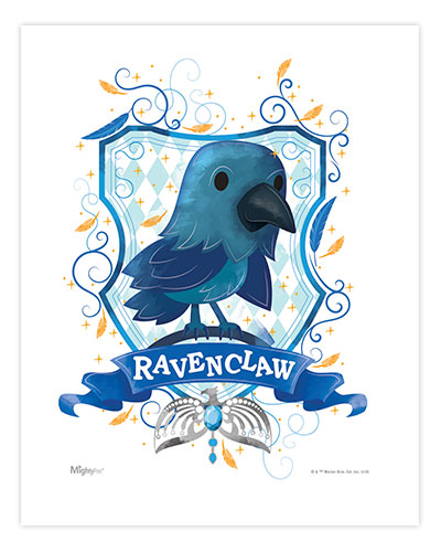 Harry Potter Ravenclaw Watercolor Mightyprint Wall Art